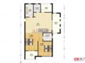 东方城二期 新空毛坯房 3室2厅 满2年 看房方便 户型好