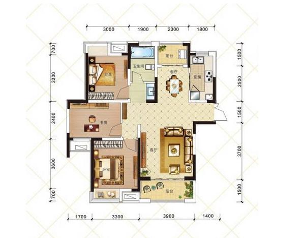 Q2 三室两厅
