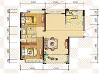 东方城一期,毛坯两房,满两年,看房方便有钥匙