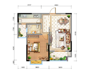 N2(高层) 一室两厅一卫