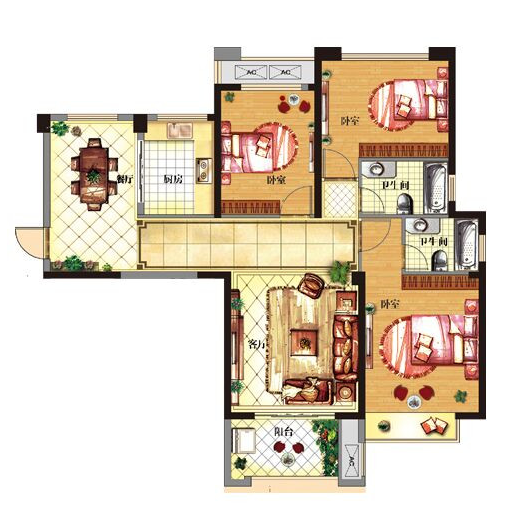 C1 三室两厅一厨两卫
