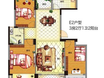 E2 三室两厅一卫两阳台