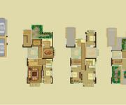 四层五层阁楼层和车库层 叠拼