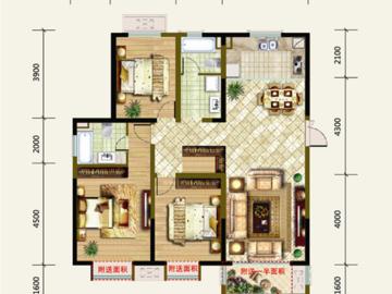 E(高层)户型三房两厅