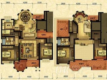 一期2号楼顶楼跃层户八室三厅两厨两卫