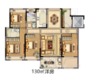 130㎡四室两厅两卫