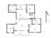 绿地臻城 18楼东边户 新空毛坯大三室 可看房 可贷款 满二年!