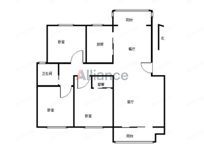 春晖家园二期 精装修三室 拎包入住 小区中间位置 南北通透 采光无遮挡!