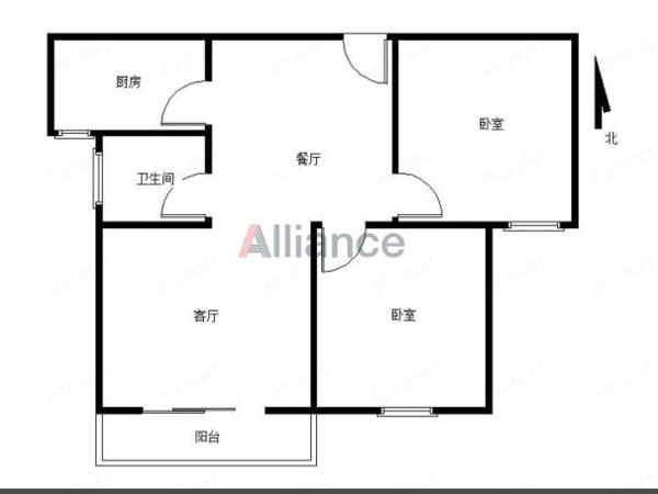 银河湾 新毛坯 南北通透 满五唯一 有钥匙随时看房 两室两厅毗邻万达商圈