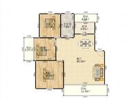 香榭园纯毛坯大三室,中间楼层,户型方正,双学区,诚心出售,方便看房。