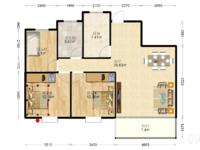万达荣府壹号 小三室 满2年 有钥匙看房 性价比高 看房方便